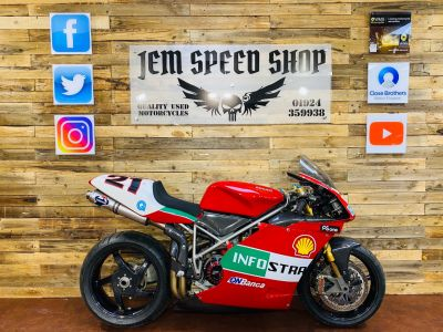 Ducati 748 748R FULL RS CORSE SPEC BAYLISS REP Super Sports Petrol RedDucati 748 748R FULL RS CORSE SPEC BAYLISS REP Super Sports Petrol Red at Bikes for Cash Batley