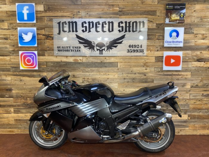 Kawasaki ZZR1400 ZX 1400 DAF ABS Sports Tourer Petrol Grey