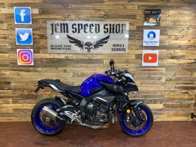 Yamaha MT-10 MT-10 MTN1000 Naked Petrol BlueYamaha MT-10 MT-10 MTN1000 Naked Petrol Blue at Bikes for Cash Batley