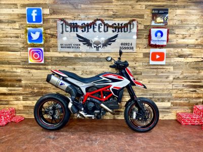 Ducati Hypermotard HYPERMOTARD SP 821 Naked Petrol WhiteDucati Hypermotard HYPERMOTARD SP 821 Naked Petrol White at Bikes for Cash Batley
