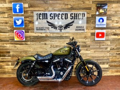 Harley-Davidson 883 XL 883 N IRON 17 Custom Cruiser Petrol Gold/greenHarley-Davidson 883 XL 883 N IRON 17 Custom Cruiser Petrol Gold/green at Bikes for Cash Batley